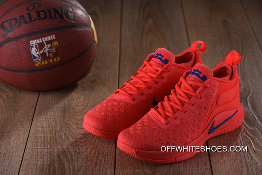 6e2af87724e Nike Lebron Witness 2 Flyknit Red Blue New Release