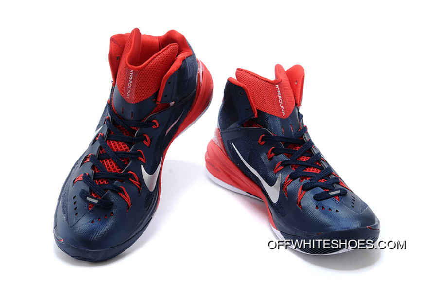 "brand new 550ae fffba Nike Hyperdunk 2014 ""USA Away"" Obsidian White-University Red New Year Deals"