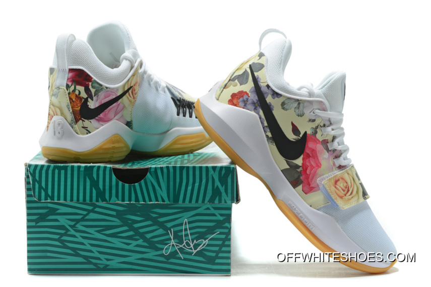"quality design 08b23 4e78e Nike PG 1 ""White Floral Print"" Shoes Off-White Discount"