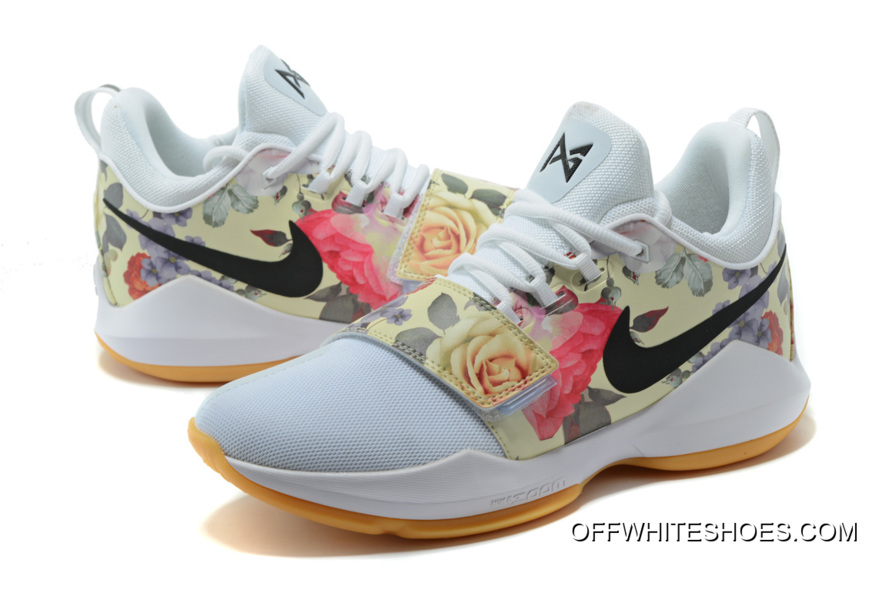 """b1dae77a0c0 Nike PG 1 """"White Floral Print"""" Shoes Off-White Discount"""