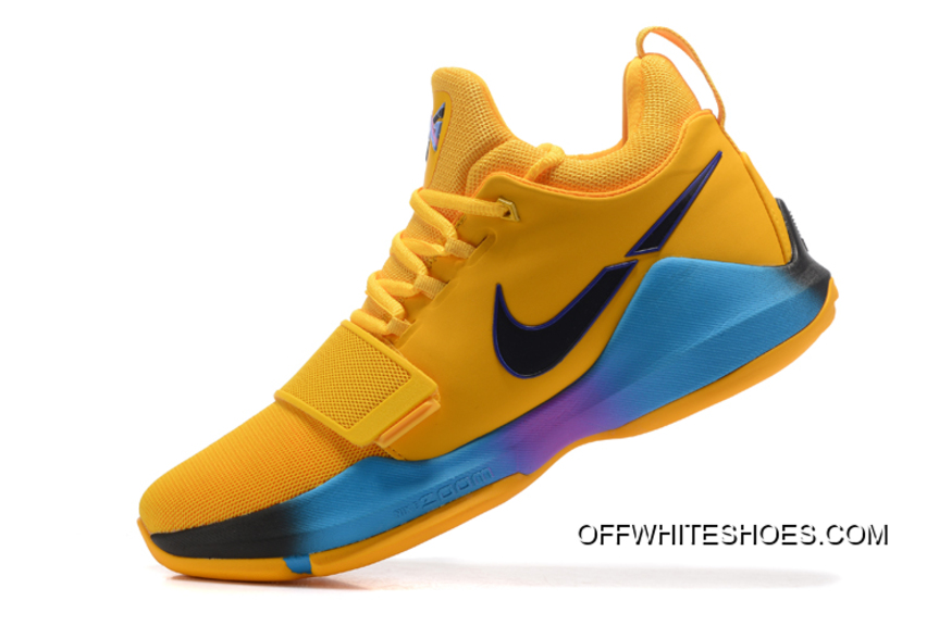 "save off 32d93 e2819 For Sale Nike Zoom PG 1 ""Flip The Switch"" Yellow Black Blue Violet"