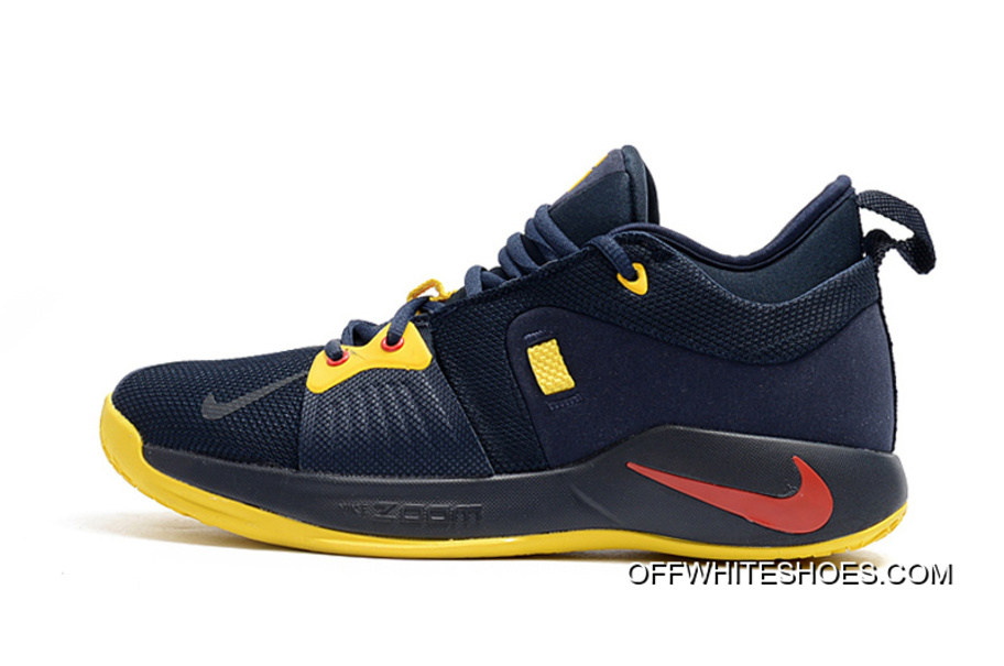 "3c2cc483fe63 Nike PG 2 ""Cavs"" Deep Navy Yellow-University Red Best"