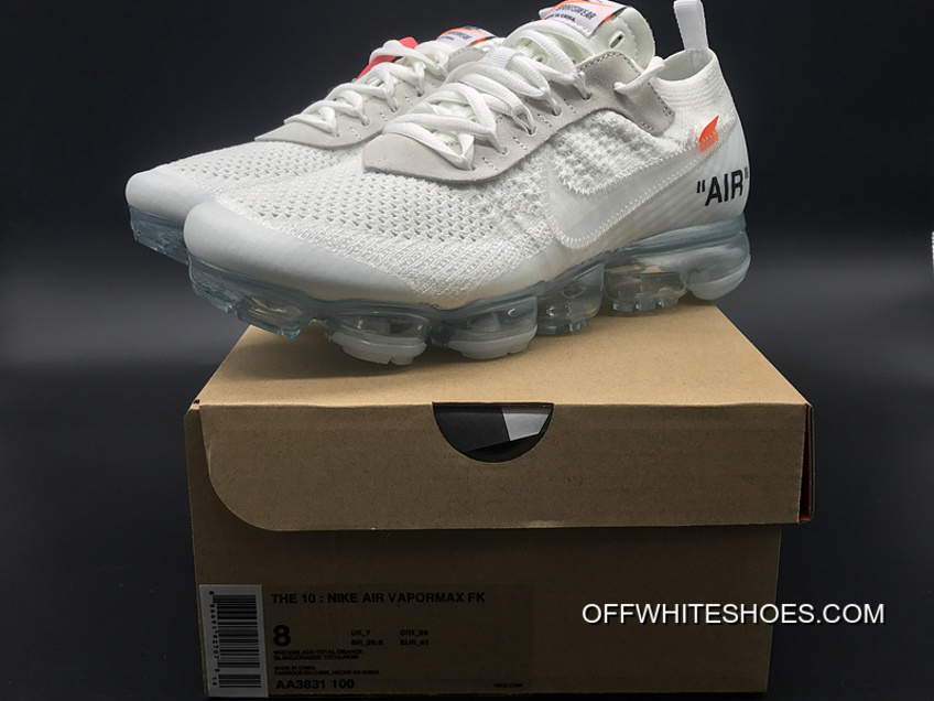 9e85872bb51 New Release All Size Sku Aa3831-100 Off-White X Nike Air Vapormax 2018