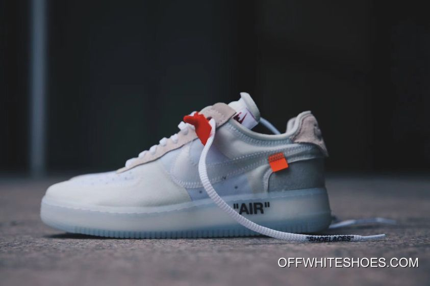 "0ca41a661403 OFF-WHITE X Nike Air Force 1 Low ""Ghosting"" White-Sail Discount ..."