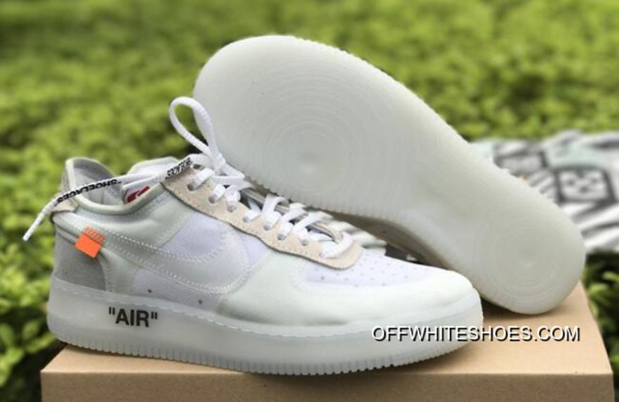 "782283d30beb70 OFF-WHITE X Nike Air Force 1 Low ""Ghosting"" White-Sail Discount ..."