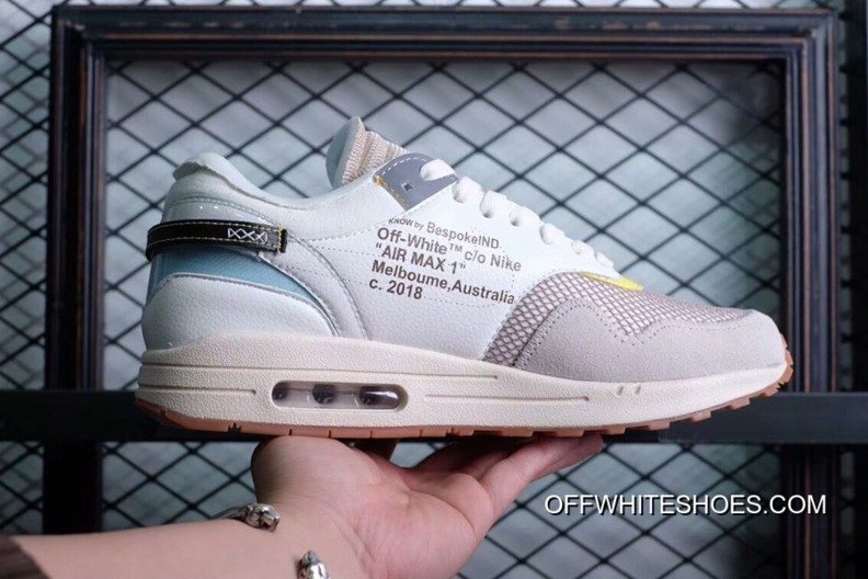 BespokeIND Custom Off-White X Nike Air Max 1s White AA7293-100 Super Deals d285b8d10525