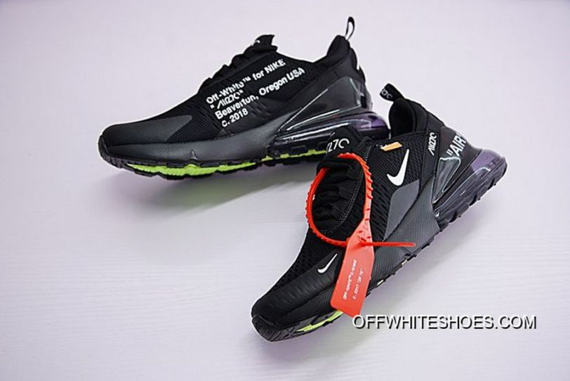 0370460df75 Men Off White X Nike Air Max 270 Running Shoe SKU 150349-267 Discount