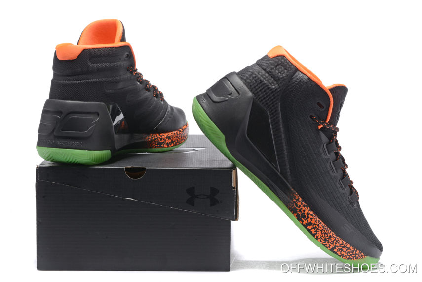 "fb37c224ae6d Outlet Under Armour Curry 3 ""Lights Out"" Halloween PE"
