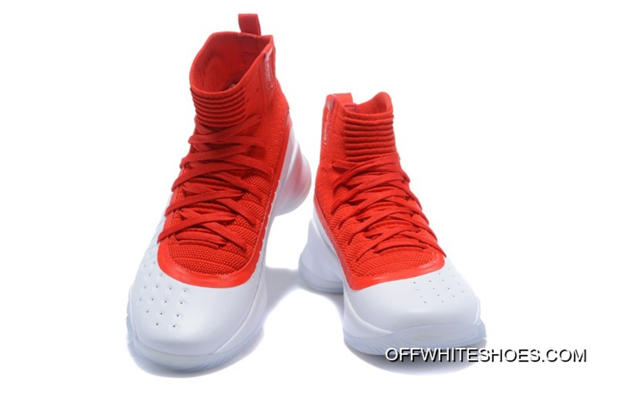 fbcdd2c630fce Free Shipping Under Armour Curry 4 White University Red Basketball Shoes