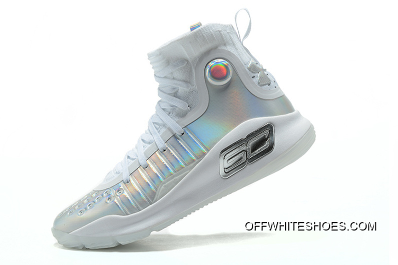 "24db78891d09 Under Armour Curry 4 ""Prism"" White Metallic Silver Top Deals"