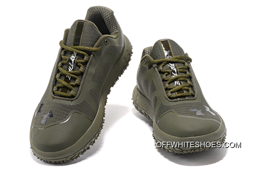 new york 6744d 5dd27 New Release Under Armour Fat Tire Low Army Green Running Shoes