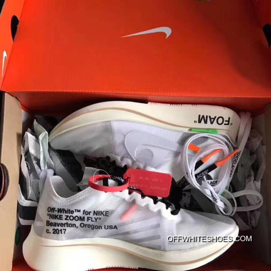 c7658cfcb1192 Women Off White X Nike Zoom Fly SP Sneakers SKU 156128-206 New Year ...