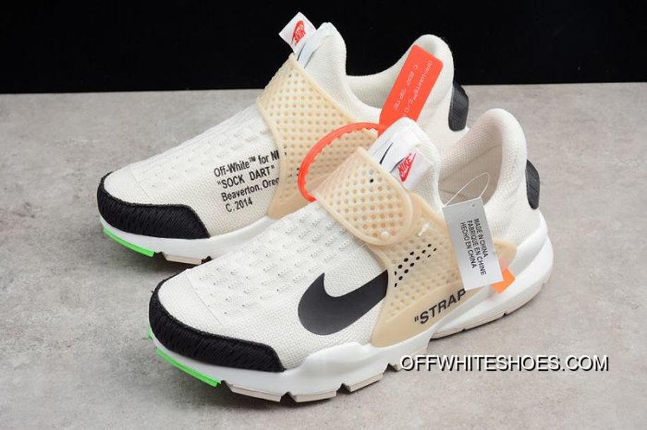 new style 81c8f 971c2 Women Off White X Nike Sock Dart Sneakers SKU 42383-215 Outlet
